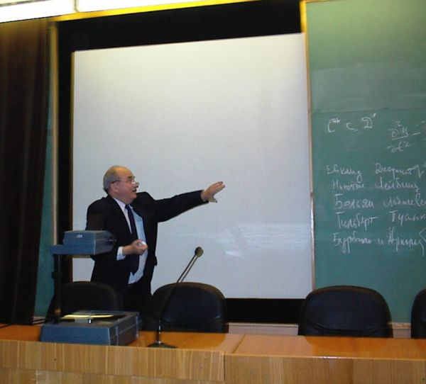 S. Kutateladze during the talk